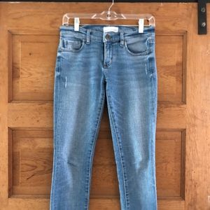 Loft cropped jeans, light wash